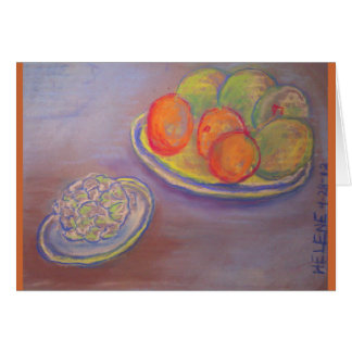 Cartes Artichaut, oranges et mangues