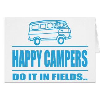Cartes Articles de cadeau pour le campeur inspiré heureux