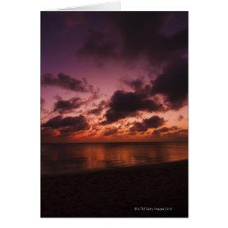 Cartes Aruba, mer au coucher du soleil