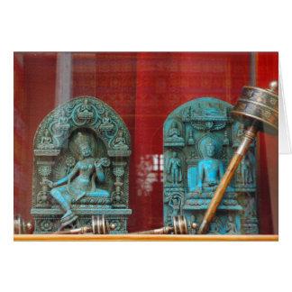 Cartes Arya Tara et seigneur Bouddha, Bodha, Népal