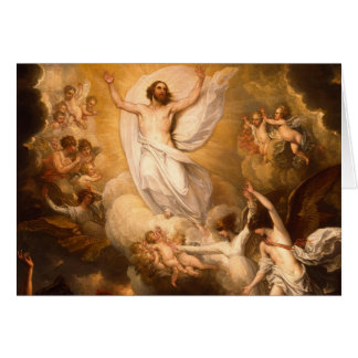 Cartes Ascension du Christ avec des anges