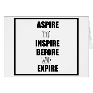 CARTES ASPIREZ POUR INSPIRER AVANT QUE NOUS EXPIRIONS