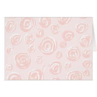 Cartes Assez doucement modèle de rose de rose