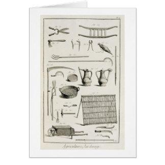 Cartes Assortiment des outils de jardinage, du 'Encyclope