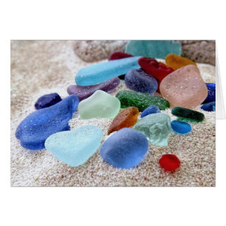Cartes Assortiment en verre de mer