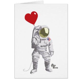Cartes Astronaute Valentine