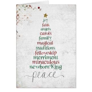 Cartes atcard de l'EE d'arbre de Noël