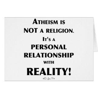 Cartes Athéisme et réalité