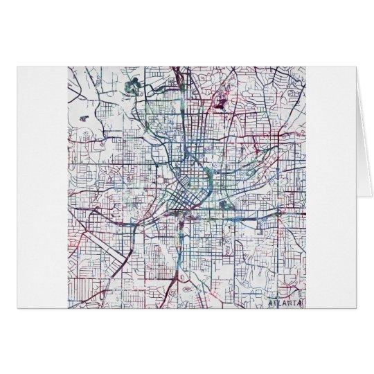 Cartes atlanta map painting