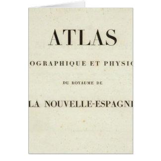 Cartes Atlas géographique et physique de demi de titre