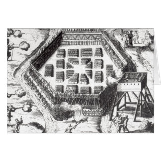 Cartes Attaque sur un village Iroquois