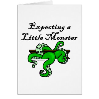 Cartes Attendre un petit monstre