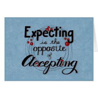 Cartes Attente contre l'acceptation