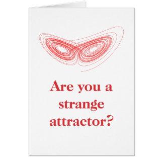 Cartes Attractor étrange - plaisanterie Valentine de