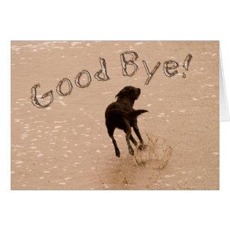 Cartes Au revoir et chien d'adieu fonctionnant sur la