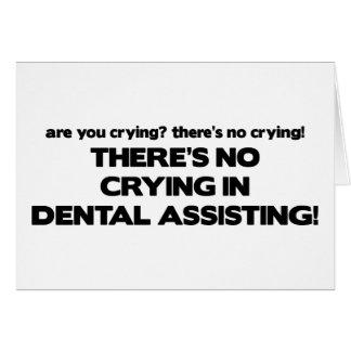 Cartes Aucun pleurer dans l'assistance dentaire