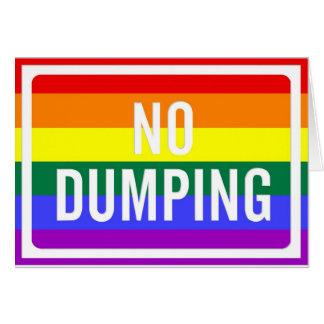 """Cartes """"Aucune"""" fierté de dumping de GLBT"""