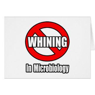 Cartes Aucune pleurnicherie en microbiologie