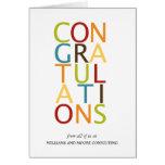 Cartes audacieuses de félicitation de lettres