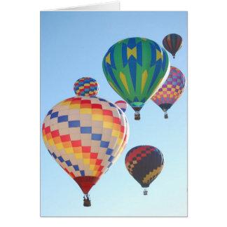 Cartes Augmentation chaude de ballons à air