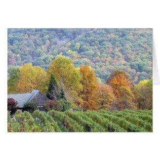 Cartes Automne dans le vignoble