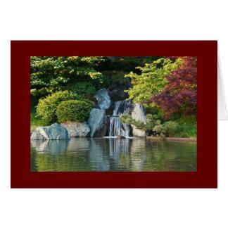 Cartes Automne de l'eau de jardin botanique du Missouri