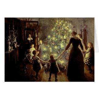 Cartes Autour de l'arbre de Noël
