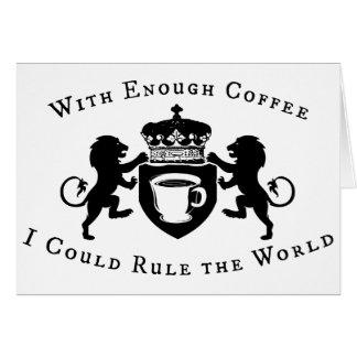 Cartes Avec de assez du café je pourrais ordonner le