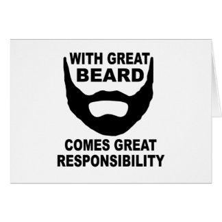 Cartes Avec la grande barbe vient la grande