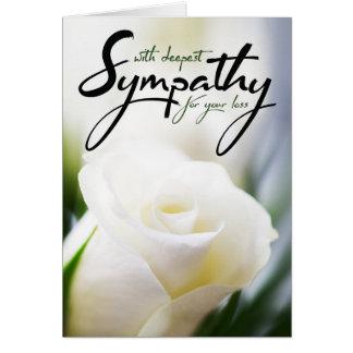 Cartes Avec la sympathie la plus profonde pour votre