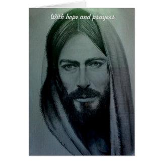 Cartes Avec l'espoir et les prières