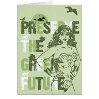 Cartes Avenir de vert de femme de merveille