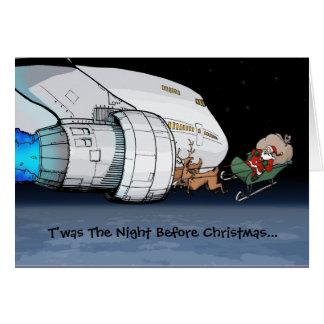 Cartes Avion de ligne Père Noël