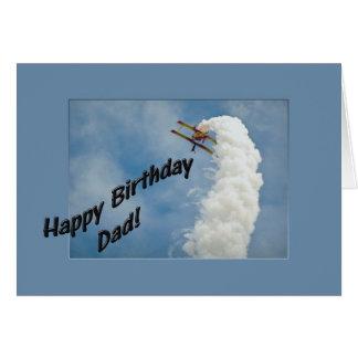 Cartes Avion de papa de joyeux anniversaire volant