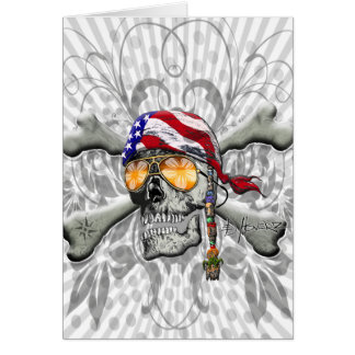 Cartes Aviron et os américains de pirate