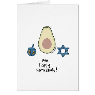 Cartes Avo Hanoukka heureux !