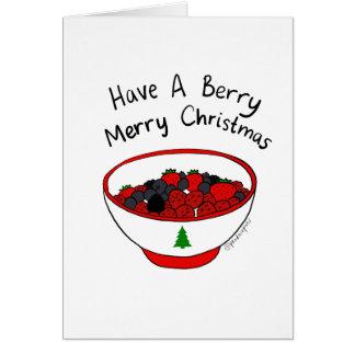 Cartes Ayez un Joyeux Noël de baie !