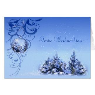 Cartes Babioles et Noël neigeux d'Allemand de pins