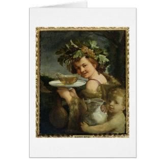 Cartes Bacchus (huile sur la toile)