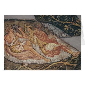 Cartes Bacchus reposant, détail