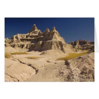 Cartes Bad-lands dans le Dakota du Sud