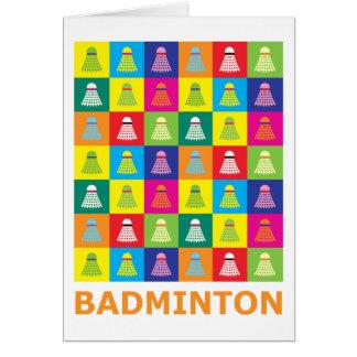 Cartes Badminton d'art de bruit
