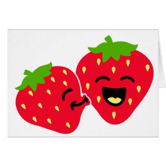 Cartes Baiser de fraise