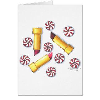 Cartes Baisers de menthe poivrée (verticaux)