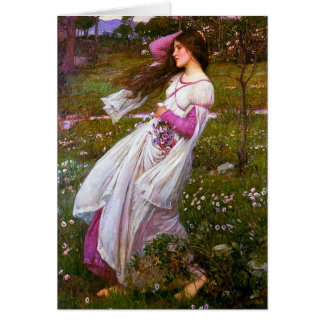 Cartes Balayé par le vent par John William Waterhouse