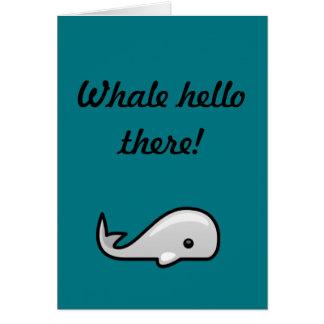 Cartes Baleine bonjour !