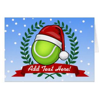 Cartes Balle de tennis de style de Noël
