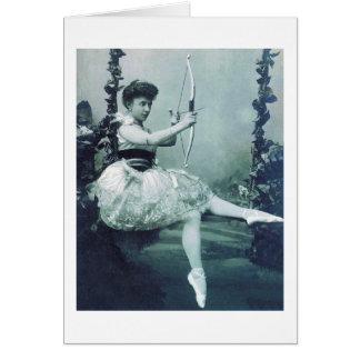 Cartes Ballerine avec l'arc du cupidon
