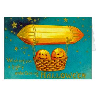 Cartes Ballon à air chaud de citrouille de lanterne de
