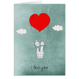 Cartes Ballon à air chaud de coeur